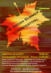Indian Summer in Malmsheim @ Schulturnhalle Malmsheim