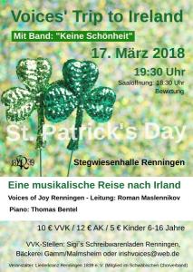 Irisches Konzert am St. Patrick's Day @ Stegwiesenhalle