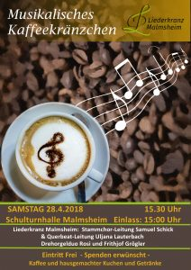 Musikalisches Kaffeekränzchen beim Liederkranz Malmsheim @ Schulturnhalle Malmsheim
