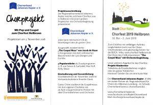 """Projektstart """"Mit Gospel und Pop zum Chorfest 2019 in Heilbronn"""" @ Sportgaststätte OG der SpVgg Warmbronn"""