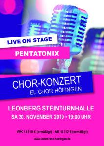 Konzert Pentatonix/Beatbox/Acappella @ Steinturnhalle Leonberg