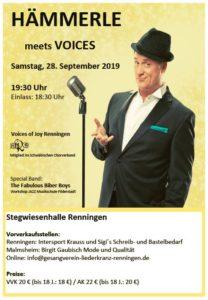 Voices meet Herr Hämmerle in Renningen @ Stegwiesenhalle