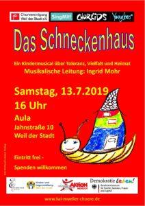 """Kindermusical """"Das Schneckenhaus"""" @ Aula Schulzentrum Weil der Stadt"""