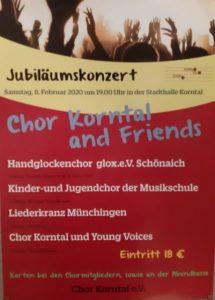 Jubiläumskonzert 100 Jahre Chor Korntal, 60 Jahre Frauenchor @ Stadthalle Korntal