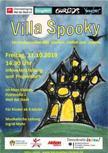 "Projektstart Kindermusical ""Villa Spooky"" @ Altes Klösterle"