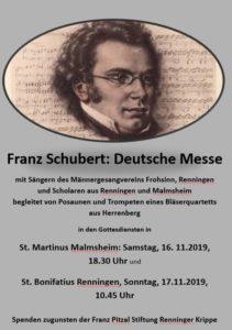 Deutsche Messe von Franz Schubert @ Martinuskirche Malmsheim