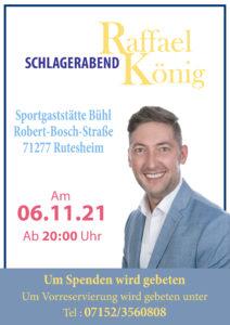 Schlagerabend mit Raphael König @ SKV Vereinsgaststätte Bühl